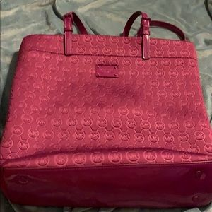 Michael Kors Neoprene Purple Tote Bag